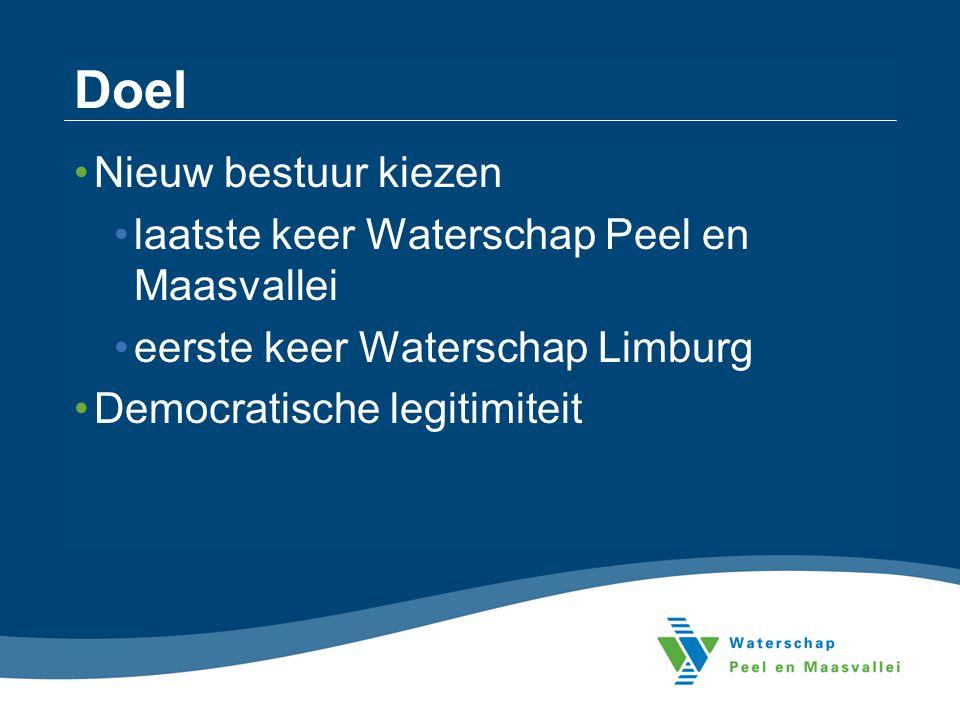 Doel Nieuw bestuur kiezen laatste keer Waterschap Peel en Maasvallei