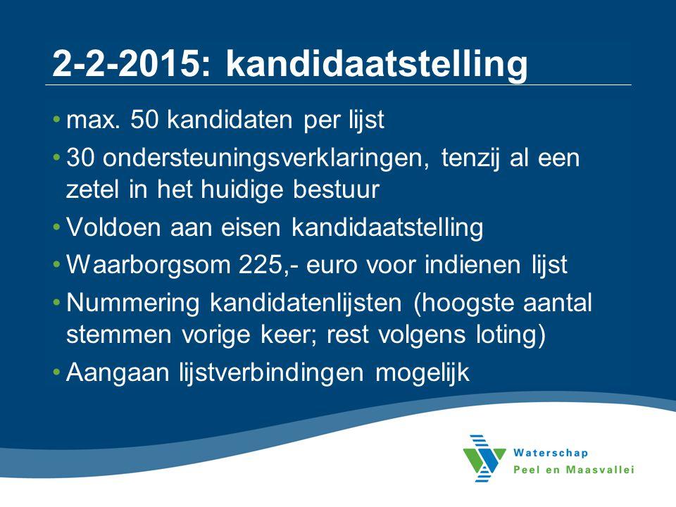 2-2-2015: kandidaatstelling
