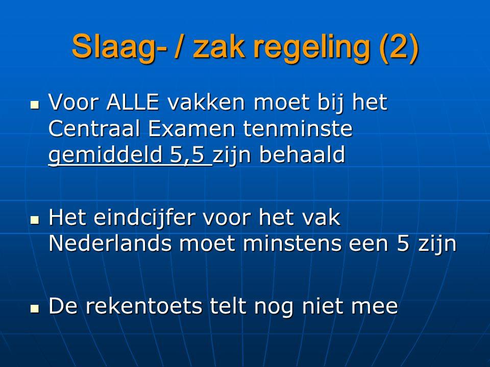 Slaag- / zak regeling (2)