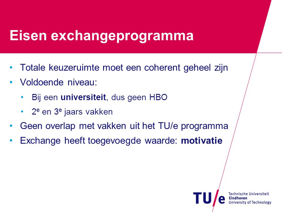 Eisen exchangeprogramma