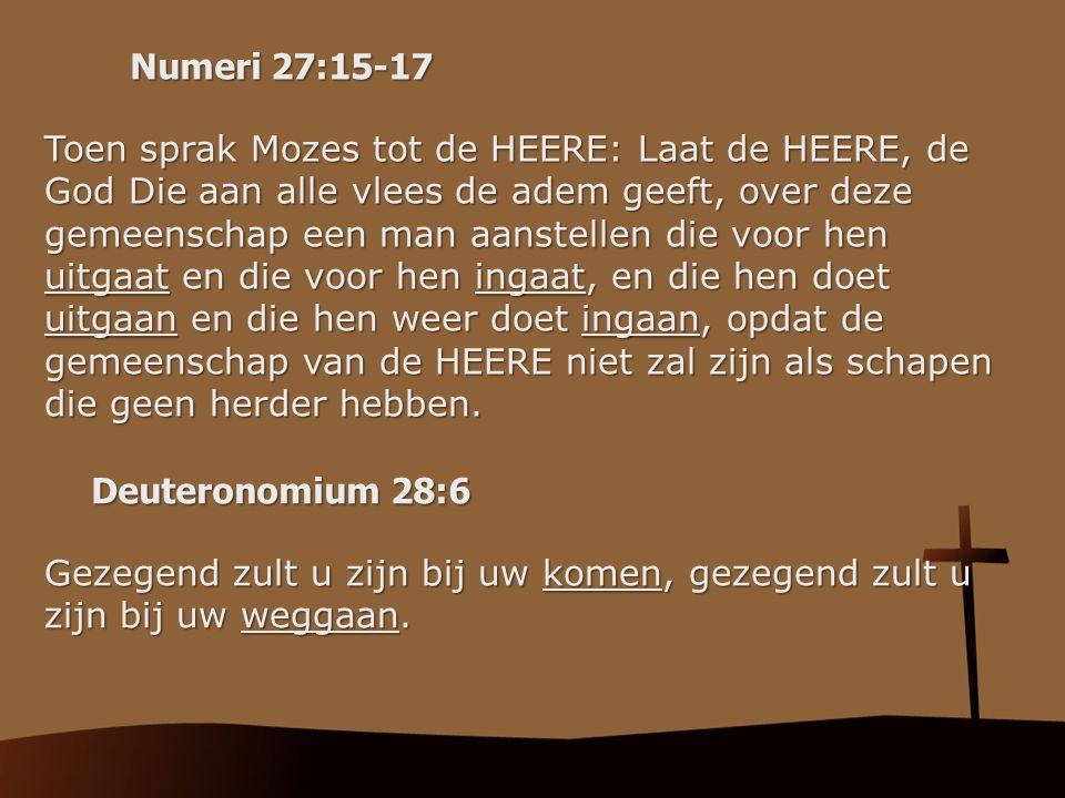 Numeri 27:15-17