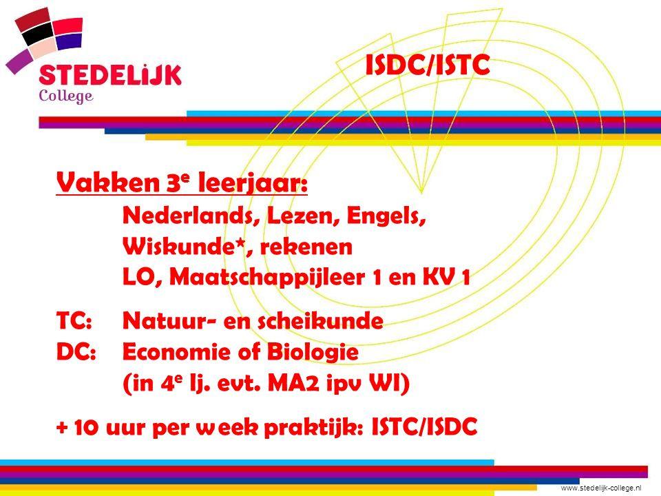 ISDC/ISTC Vakken 3e leerjaar: Nederlands, Lezen, Engels,