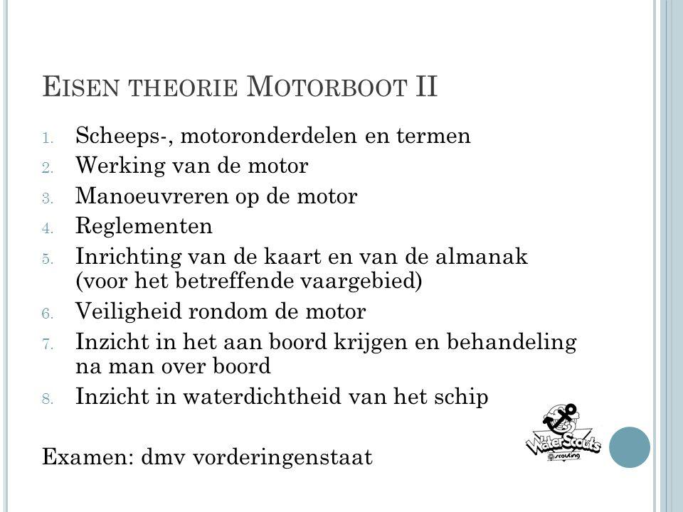 Eisen theorie Motorboot II