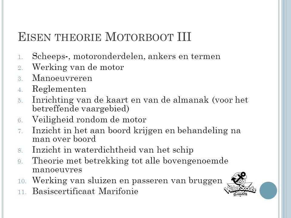 Eisen theorie Motorboot III
