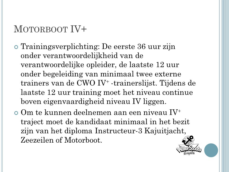 Motorboot IV+