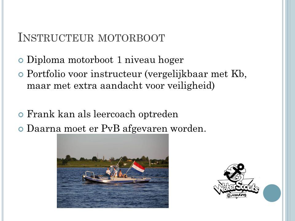 Instructeur motorboot