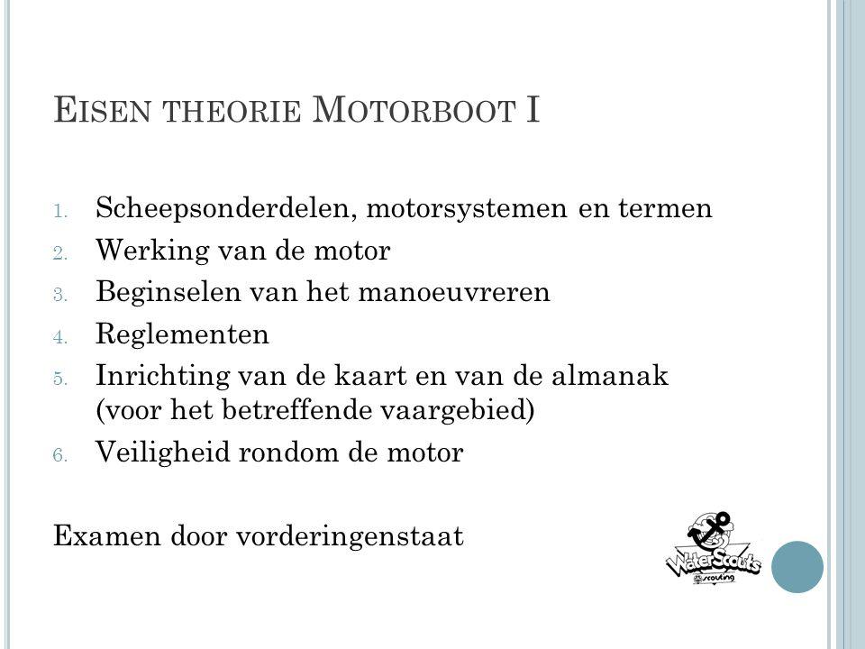 Eisen theorie Motorboot I