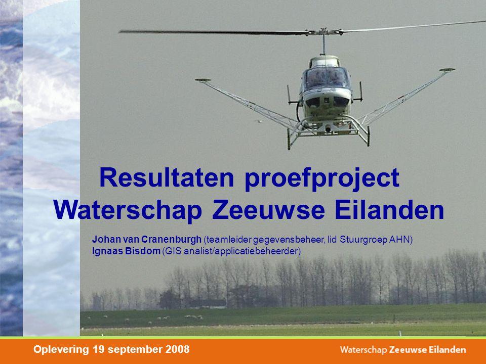 Resultaten proefproject Waterschap Zeeuwse Eilanden