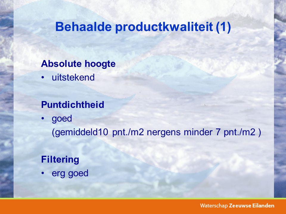 Behaalde productkwaliteit (1)