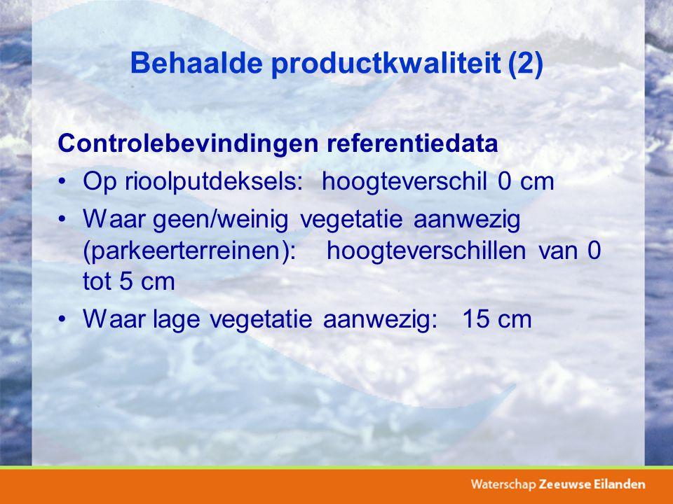 Behaalde productkwaliteit (2)