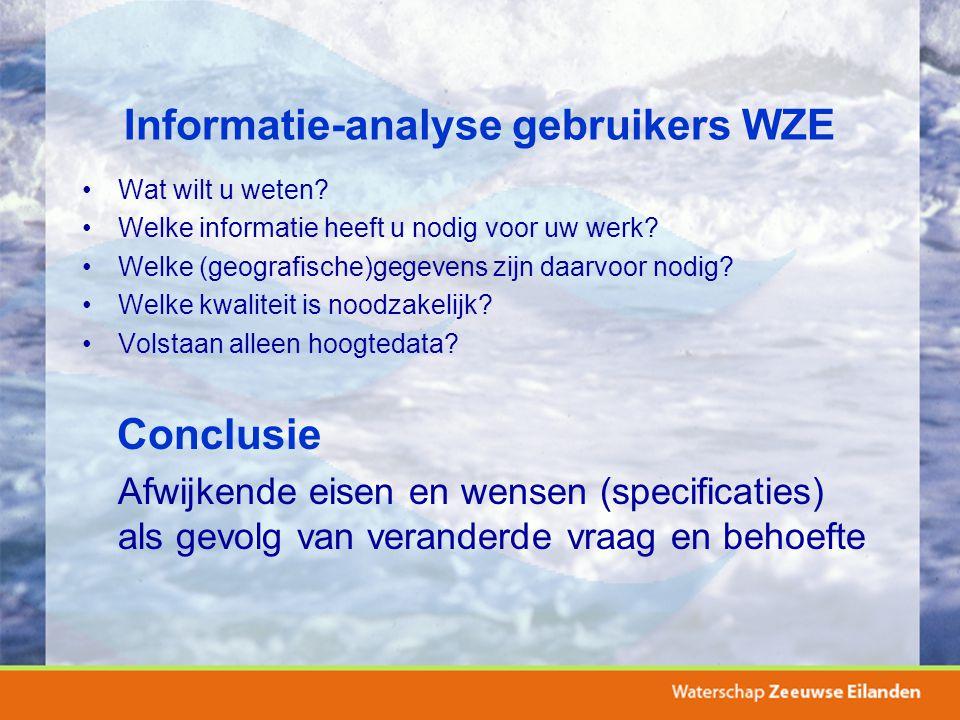 Informatie-analyse gebruikers WZE