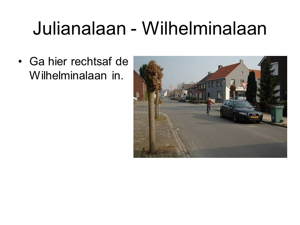 Julianalaan - Wilhelminalaan