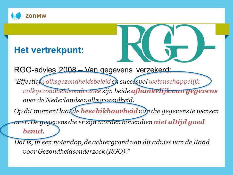 Het vertrekpunt: RGO-advies 2008 – Van gegevens verzekerd: