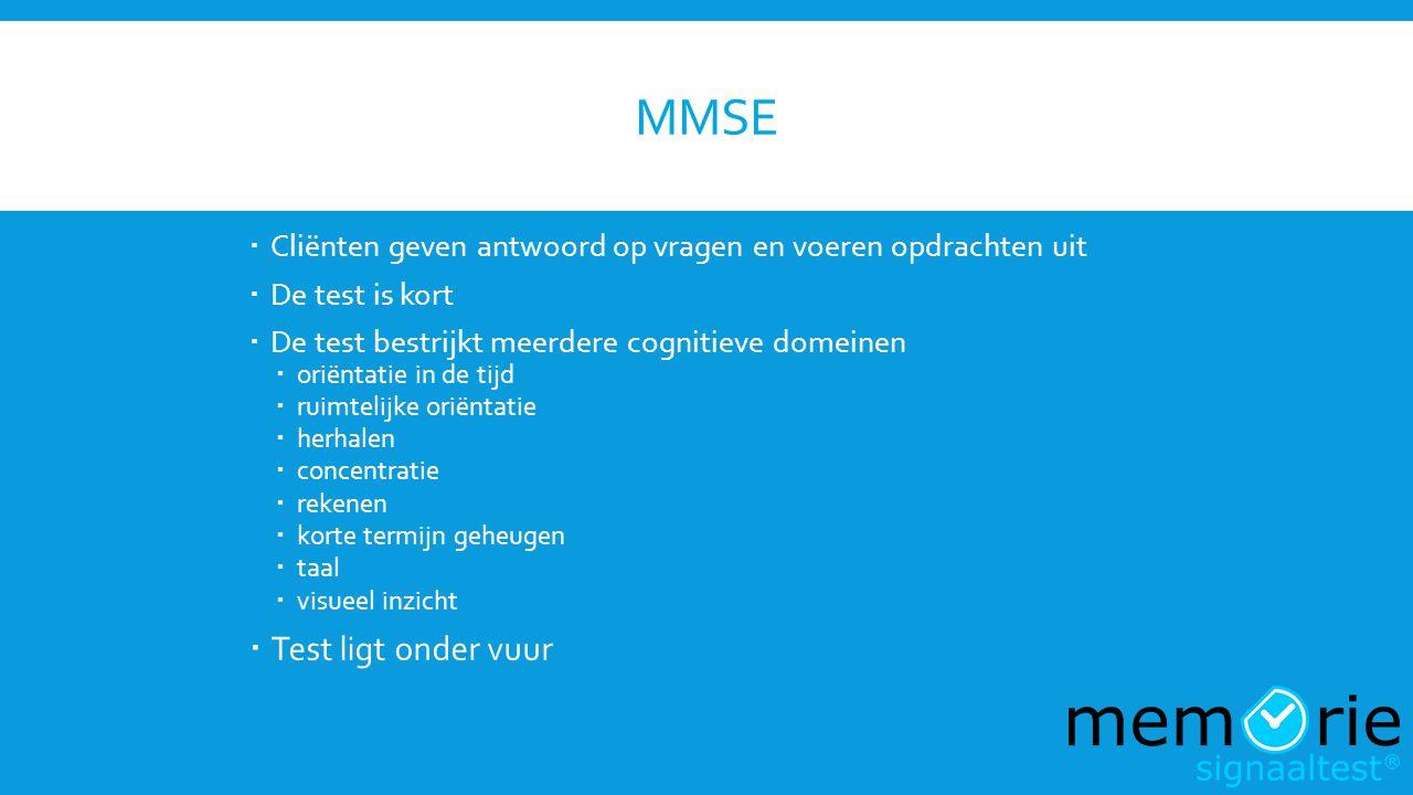 MMSE Test ligt onder vuur