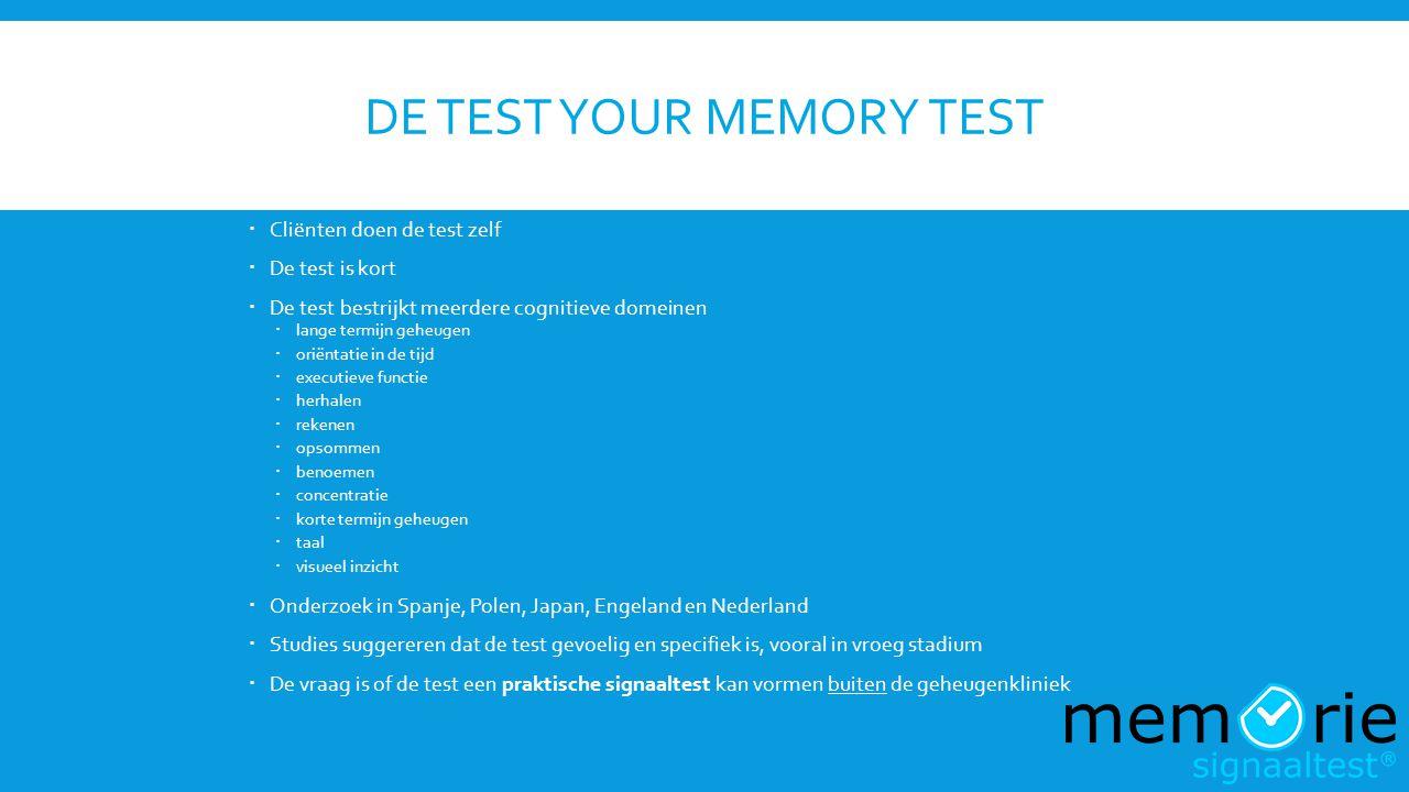 De Test Your Memory test
