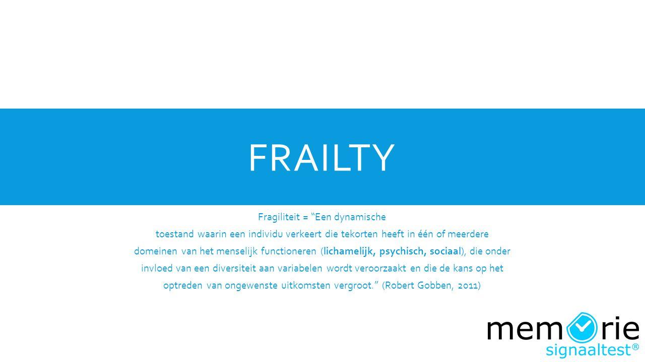 Frailty Fragiliteit = Een dynamische