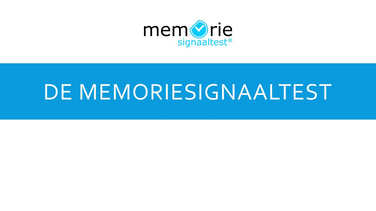 De MemorieSignaaltest