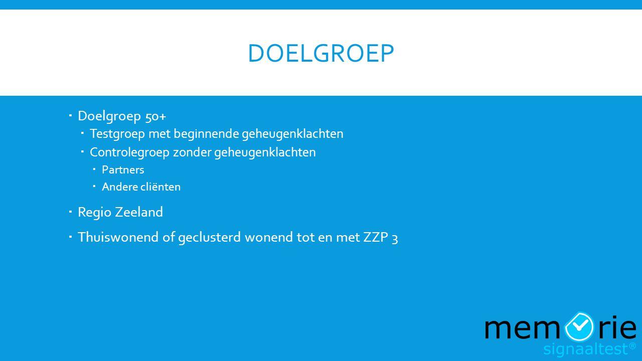 Doelgroep Doelgroep 50+ Regio Zeeland