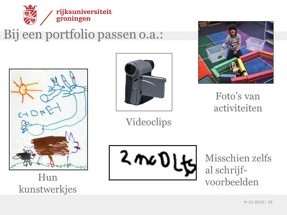 Bij een portfolio passen o.a.: