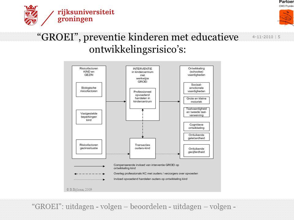 GROEI , preventie kinderen met educatieve ontwikkelingsrisico's: