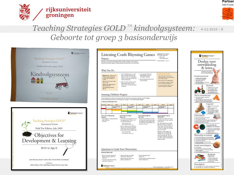 Teaching Strategies GOLD ™ kindvolgsysteem: Geboorte tot groep 3 basisonderwijs