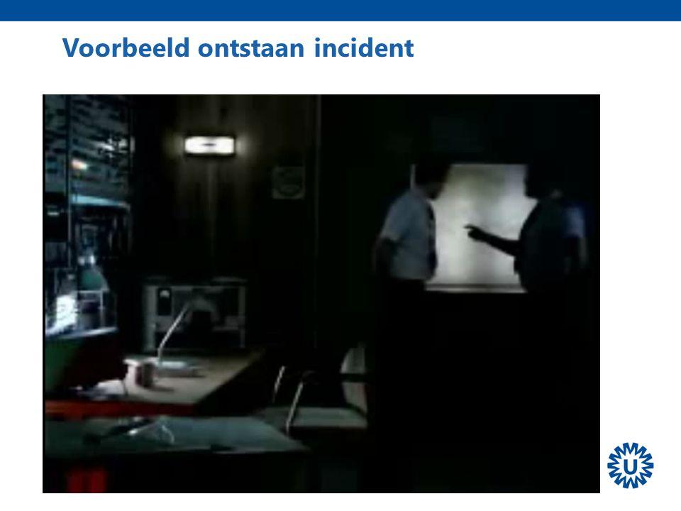 Voorbeeld ontstaan incident