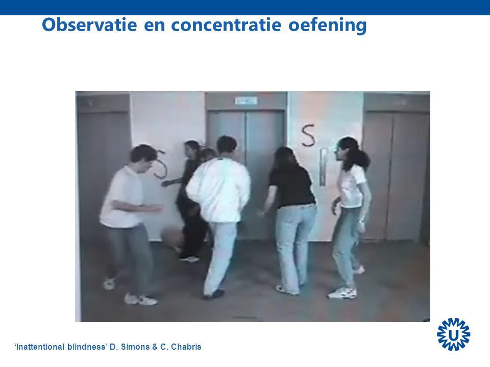 Observatie en concentratie oefening