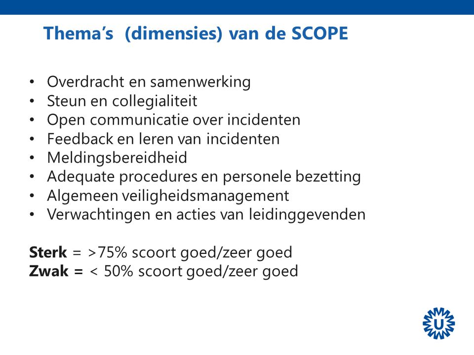 Thema's (dimensies) van de SCOPE