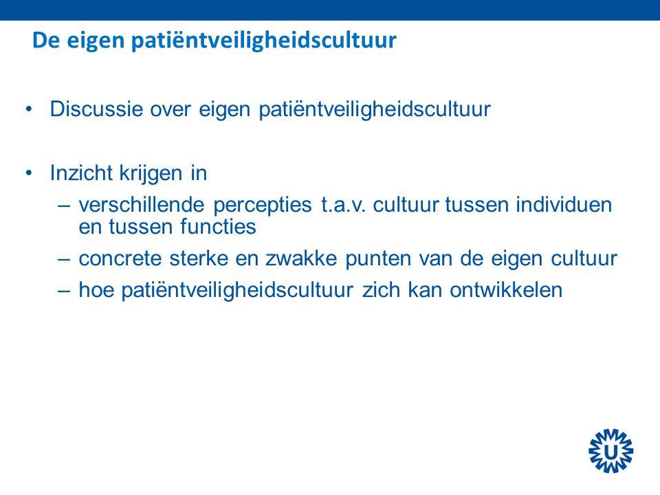 De eigen patiëntveiligheidscultuur