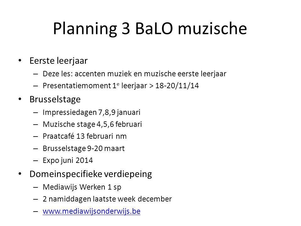 Planning 3 BaLO muzische