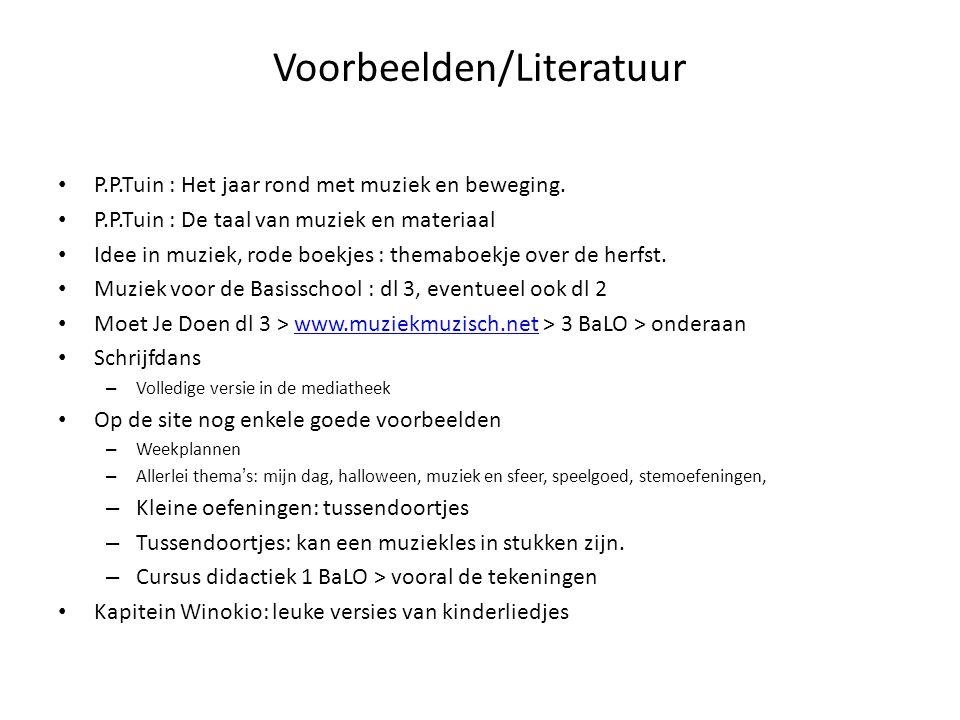 Voorbeelden/Literatuur