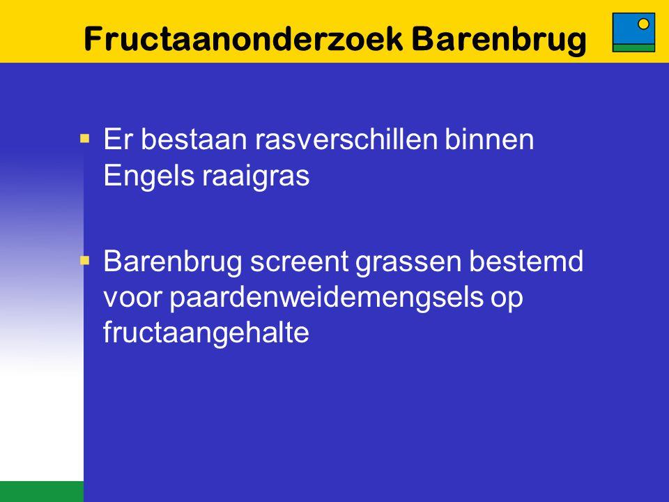 Fructaanonderzoek Barenbrug