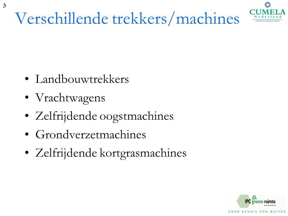 Verschillende trekkers/machines