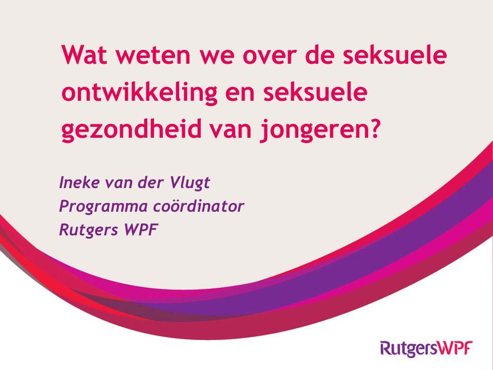 Ineke van der Vlugt Programma coördinator Rutgers WPF