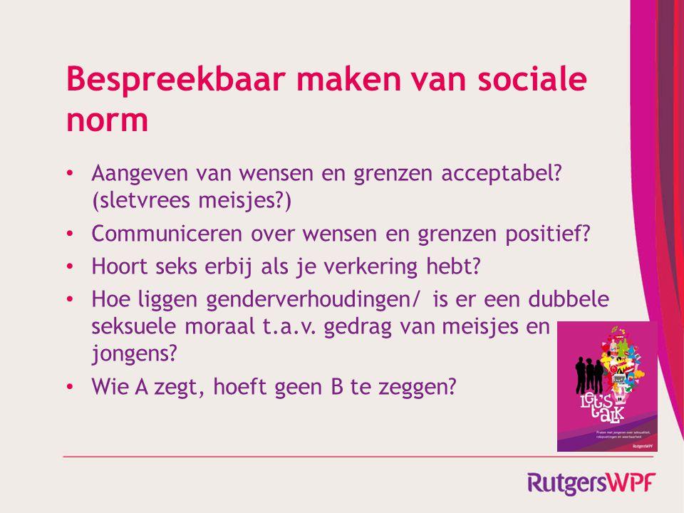 Bespreekbaar maken van sociale norm