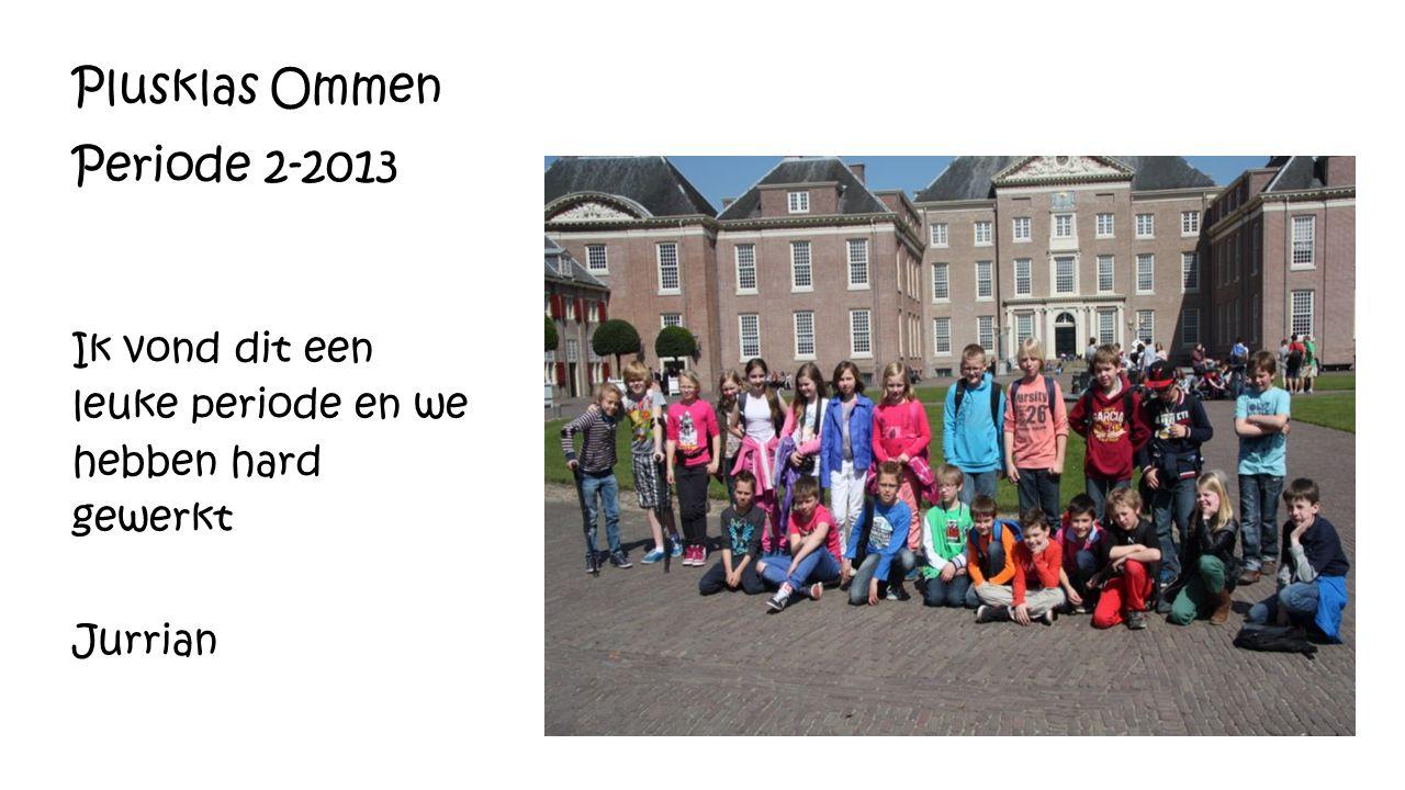 Plusklas Ommen Periode 2-2013