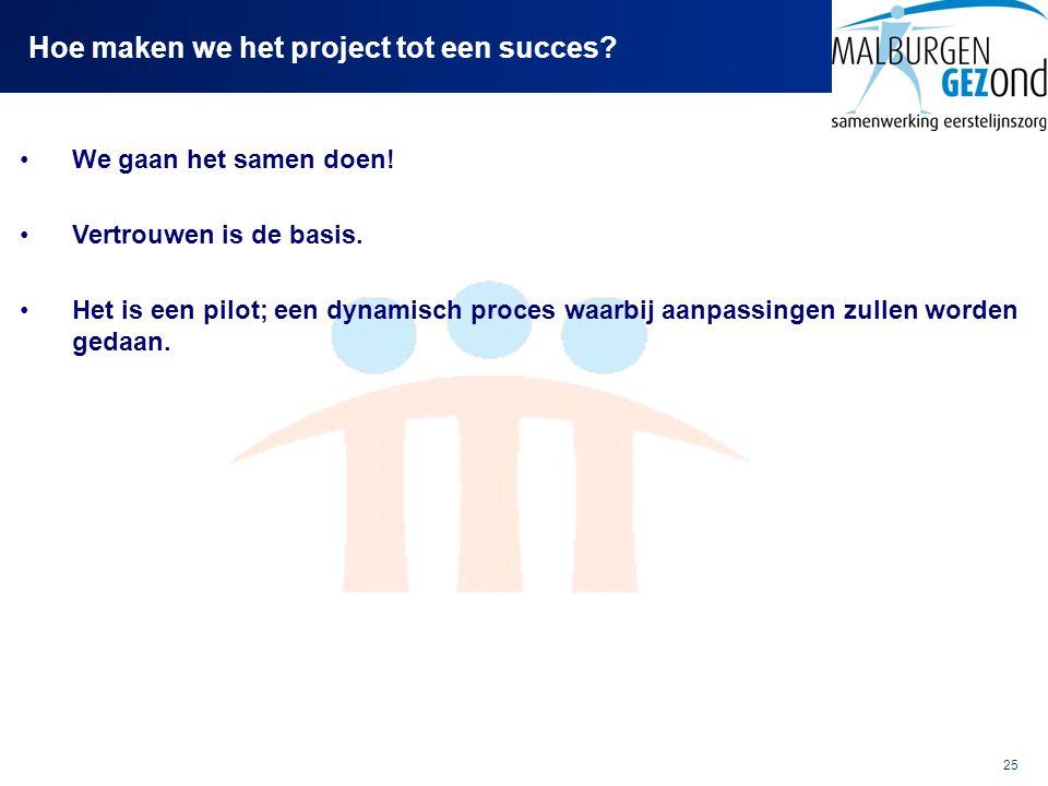 Hoe maken we het project tot een succes