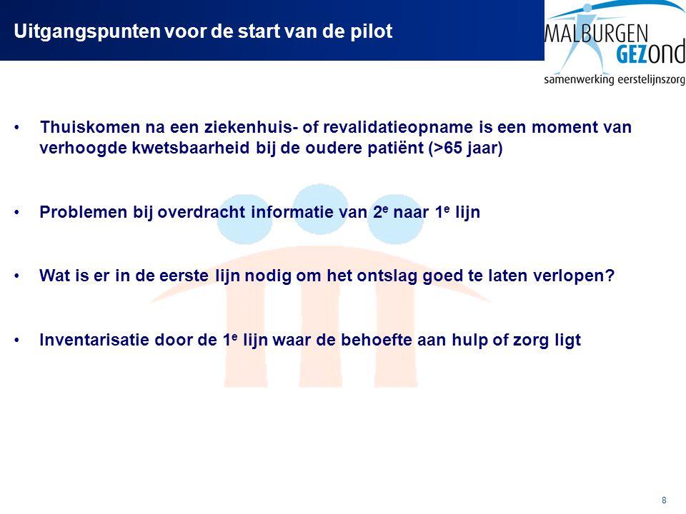 Uitgangspunten voor de start van de pilot