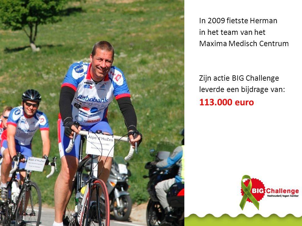 113.000 euro In 2009 fietste Herman in het team van het