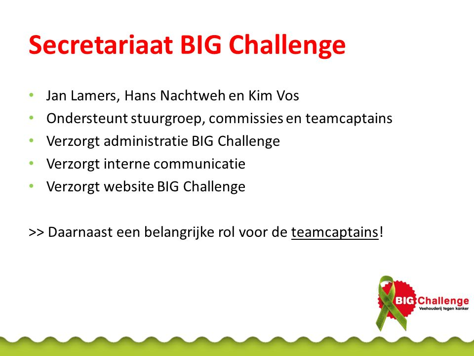 Secretariaat BIG Challenge