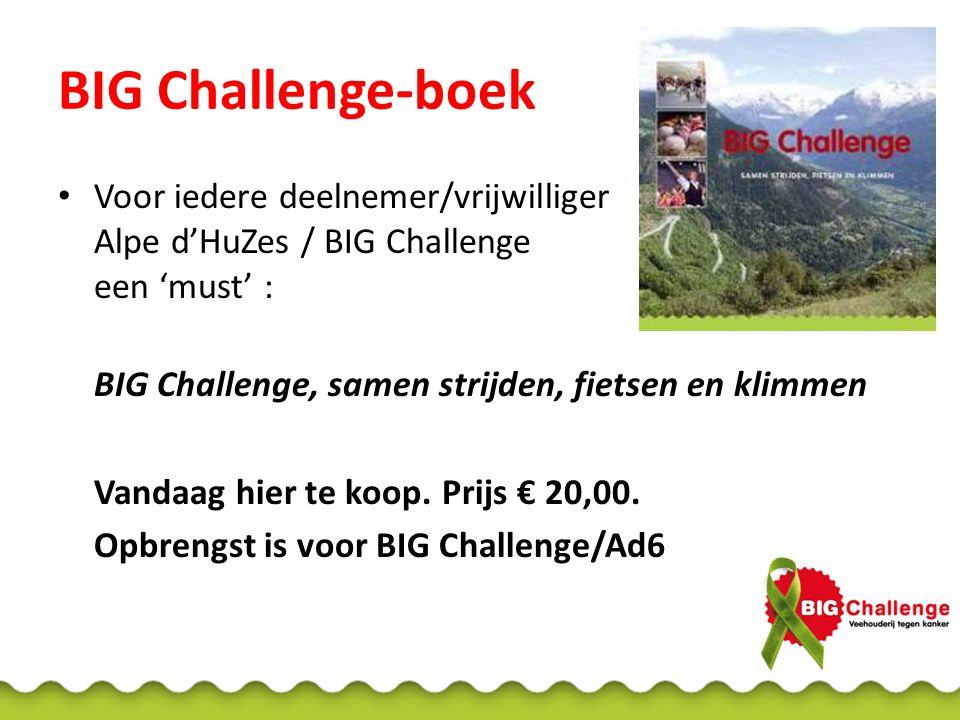 BIG Challenge-boek Voor iedere deelnemer/vrijwilliger Alpe d'HuZes / BIG Challenge een 'must' : BIG Challenge, samen strijden, fietsen en klimmen