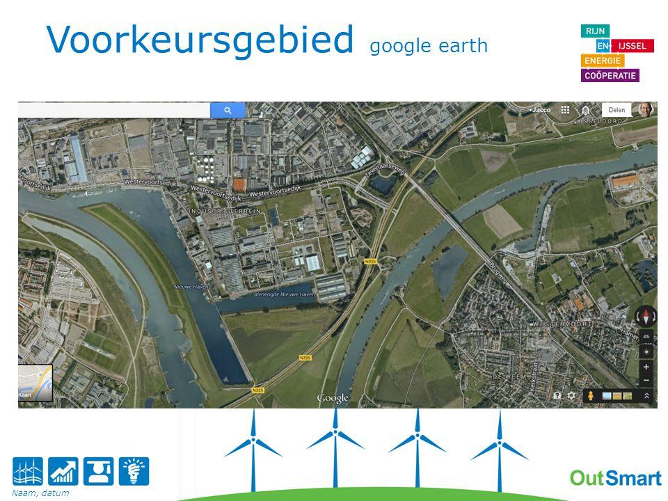 Voorkeursgebied google earth