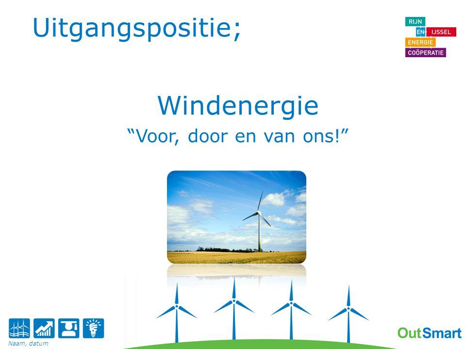 Uitgangspositie; Windenergie Voor, door en van ons! Naam, datum
