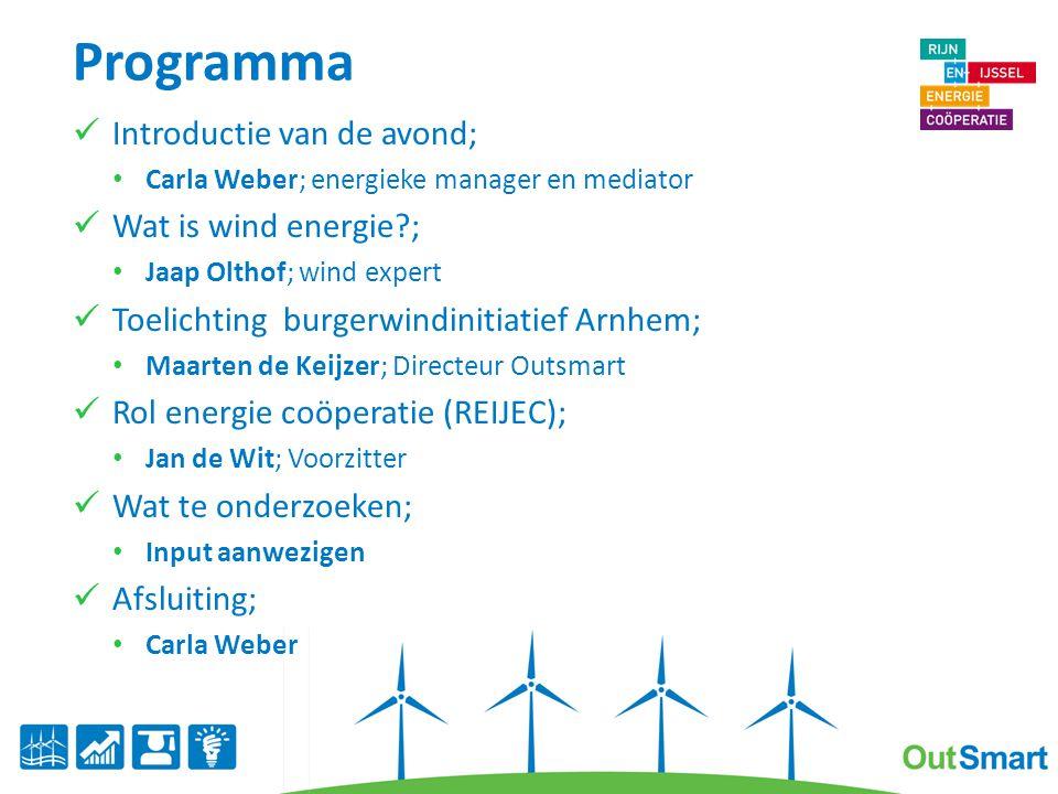Programma Introductie van de avond; Wat is wind energie ;