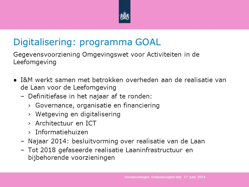 Digitalisering: programma GOAL