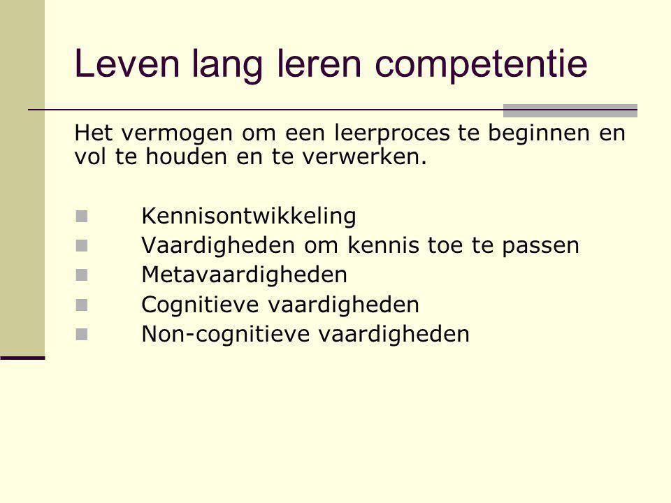 Leven lang leren competentie