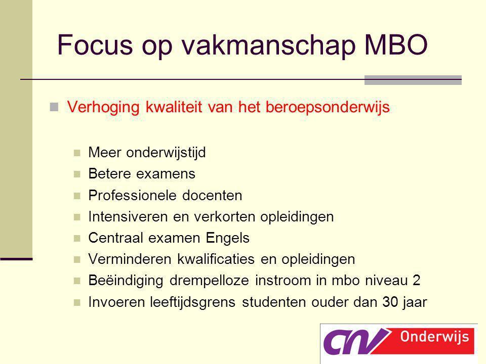 Focus op vakmanschap MBO