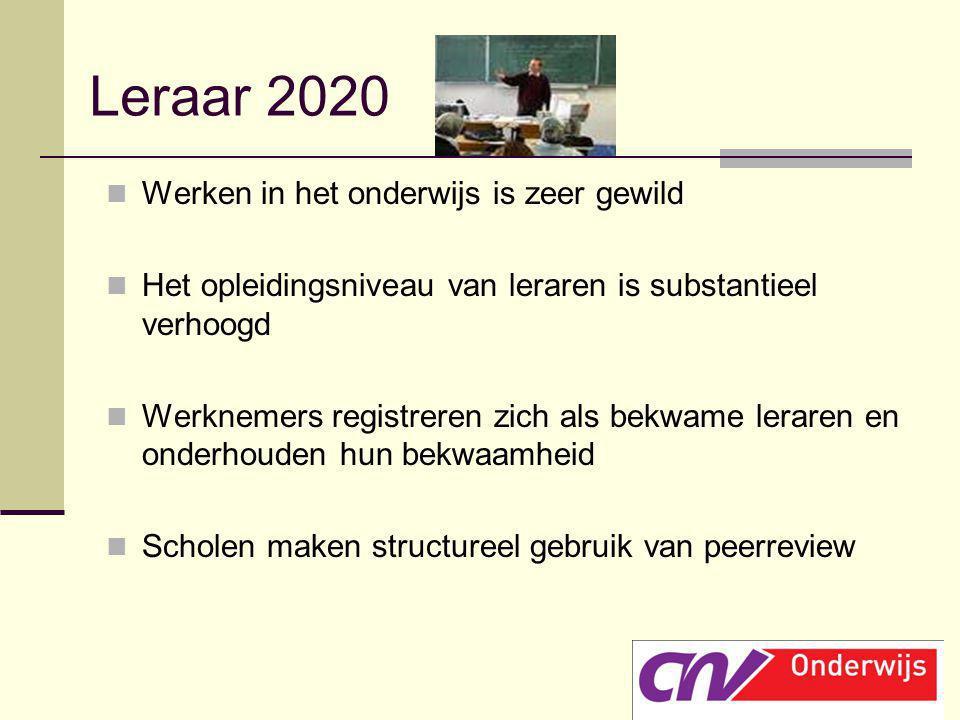 Leraar 2020 Werken in het onderwijs is zeer gewild