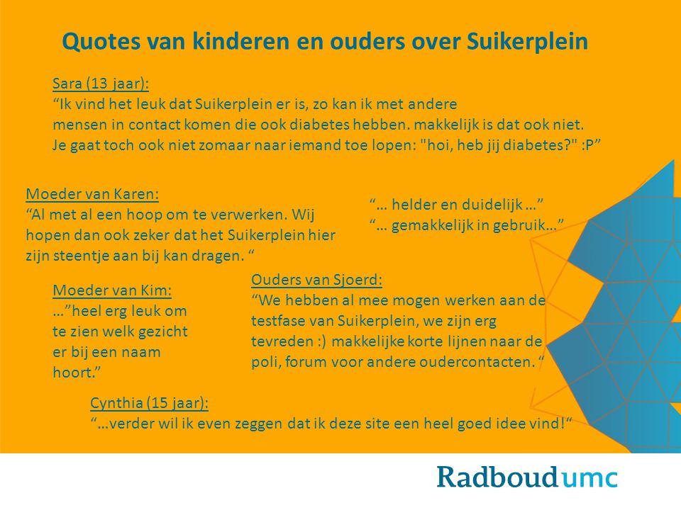Quotes van kinderen en ouders over Suikerplein