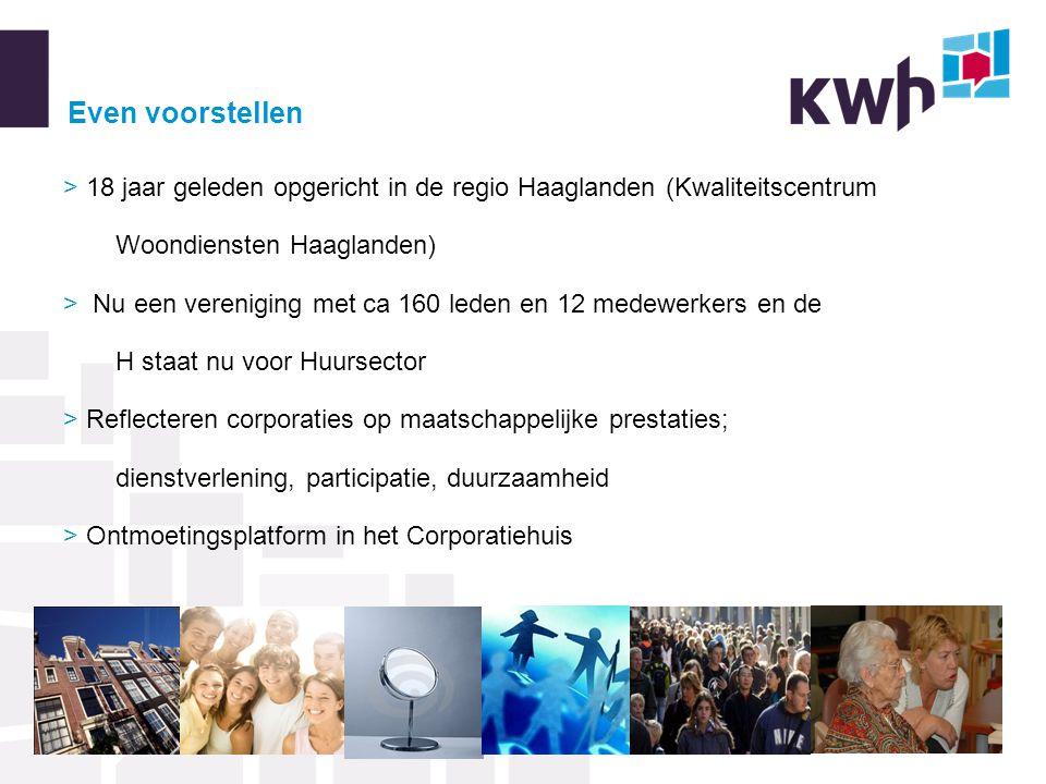 Even voorstellen > 18 jaar geleden opgericht in de regio Haaglanden (Kwaliteitscentrum Woondiensten Haaglanden)